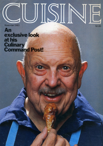 Cuisine and James Beard - the back cover was the back of his head
