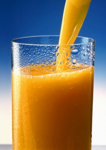 If you don't have orange juice on hand - juice an orange - then you'll need 2 oranges