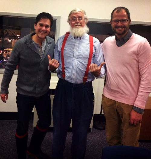 Roger Swain, formerly of The Victory Garden with fanboys Brent and Josh