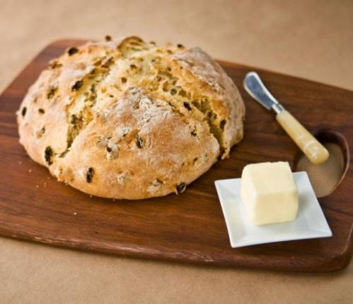 This is called Irish Bread with Golden Raisins, but really it's tea cake, even if it shows up in The Boston Globe and even if Sheryl Julian and Julie Riven say bread - it's cake