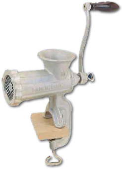 Manual Home Meat Grinder - some things never change