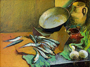 Still Life with Anchovies - Antonio Sicurezza 1972