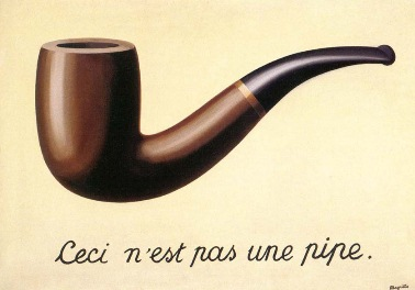 """This is not a pipe"" The Treachery of Images, Rene Magritte"