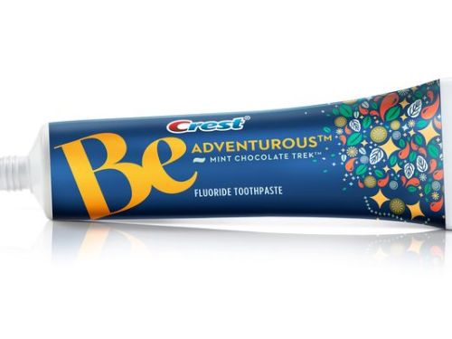 Chocolate Mint flavored toothpaste. Oh, Yes!