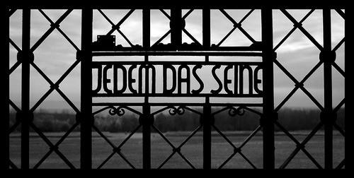 The gate at Buchenwald - 'To Each His Own'
