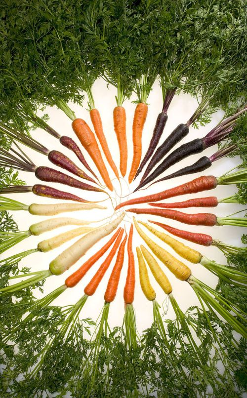 Carrots come in many colors and can be used interchangeably