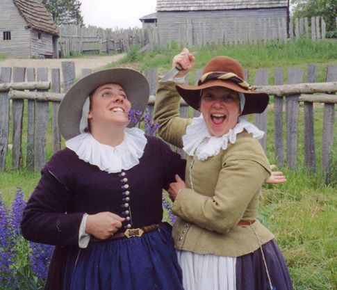 Mindy was my Pilgrim sister. Here's she with Cindy.