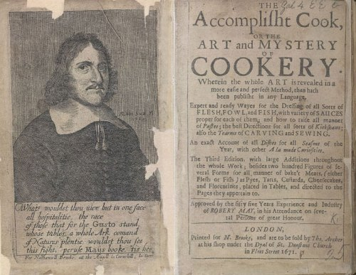 Robert May and the frontispiece of The Acomplist Cook