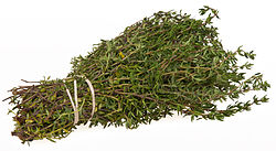 Thyme, ready to hang up and dry