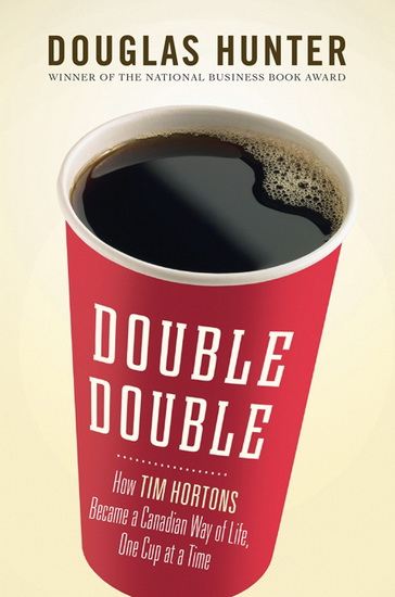 Double double the coffee, Double Double the book.
