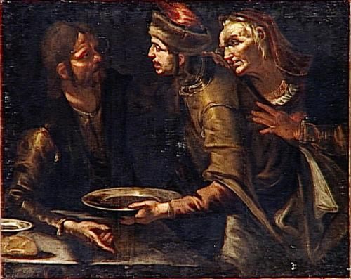 Almost all the pottage in 17th century images include Jacob and Esau
