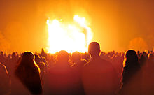 Bonfire in England for 5th of November