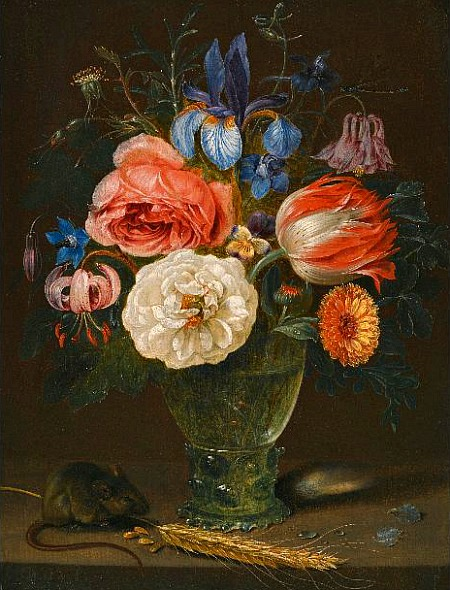 Clara Peeters - flowers, good; mouse, optional