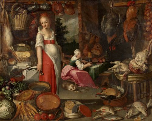 The First Thanksgiving probably looked a little more like this then what we're accustomed to seeing