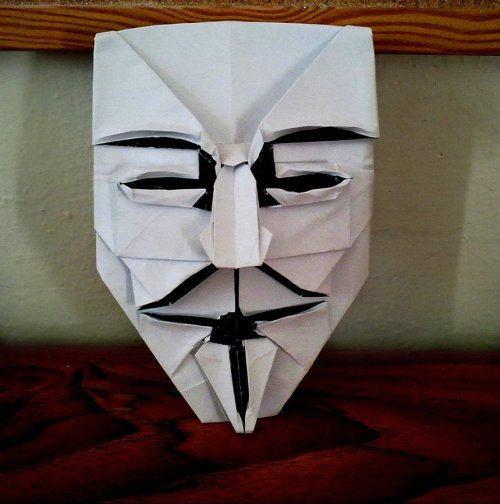 The Guy Fawkes Mask  - this one as origami