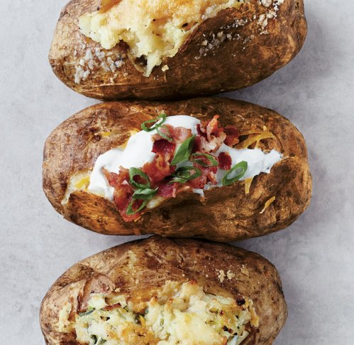 These three lovely meals in a spud were feature in the New York Times recently