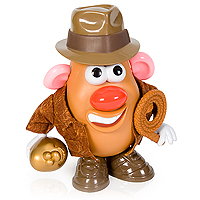 Mr Potato Head as Indiana Jones with a JACKET