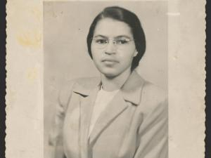 Rosa Parks in 1950.