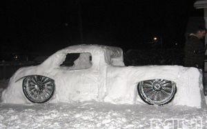 This snow truck - unless it's really a snow car - we have several of these in the neighborhood.