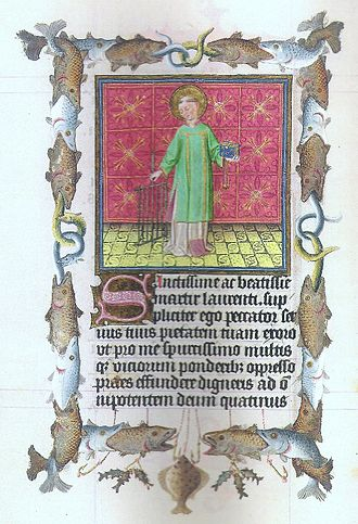 St. Ambrose from the Book of Hours of Catherine of Cleves, 1440