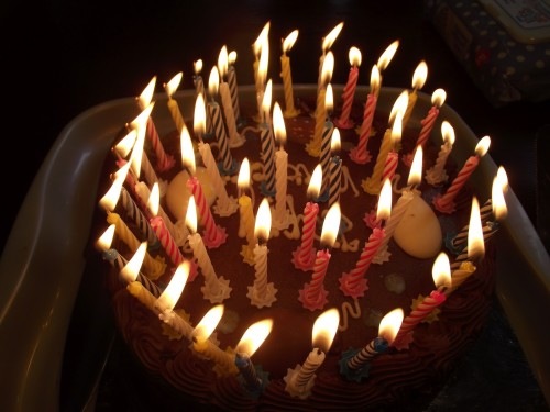 "Time to sing ""Happy Birthday"" - and take a deep breath to blow out those candles!"