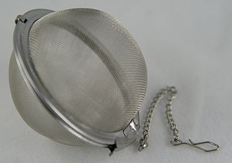 Tea infuser - stainless cleans up much nicer then bamboo