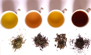 Tea in different grades of fermentation