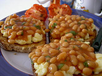 Beans and Egg on Toast