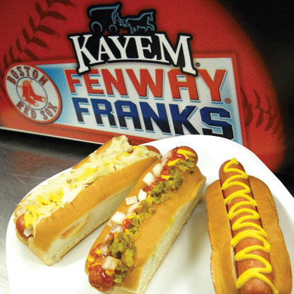 This is the photo from the Old Tyme Kayem, official suppliers of the Fenway Frank