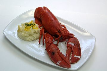 This is an American lobster - lobsters in the paintings are European lobsters
