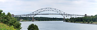 Sagamore Bridge, joining Cape Cod to the mainland over the Cape Cod Canel