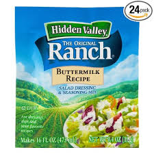 But this is the ranch dressing he really wanted, so these packets were part of our pantry for years...