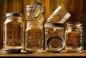 Mason jars are good to mix salad dressing in - NOT the salads, which need bowls or plates.