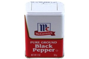 pepper black tin