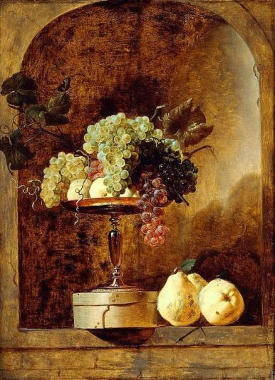 Frans Snyders Grapes, Peaches and Quinces in a Niche 17th century