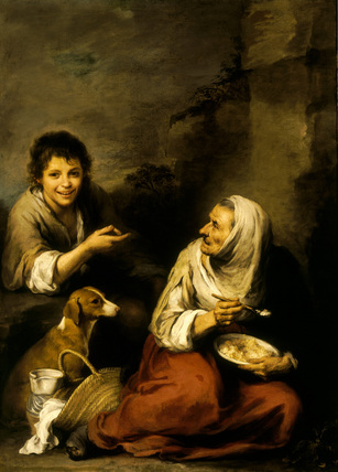 Murillo - the Polenta Woman -17th century - notice how she's not fashionable