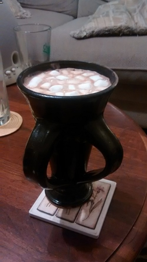 beercup with marshmallow