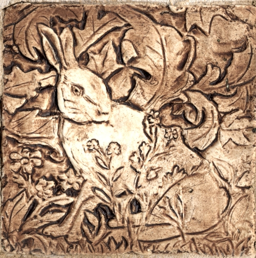 rabbit brown stain Wm Morris