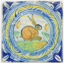 rabbit tile 16th c