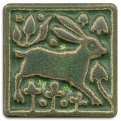 rabbit tile med green