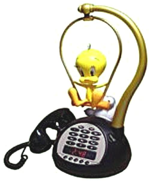 tweety.bird.aminated.phone.and.alarm.clock