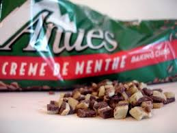 Andes creme de menthe chips