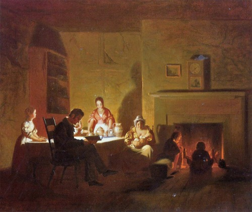 wi5  George Caleb Bingham (American genre painter, 1811-1879)  Family Life on the Frontier