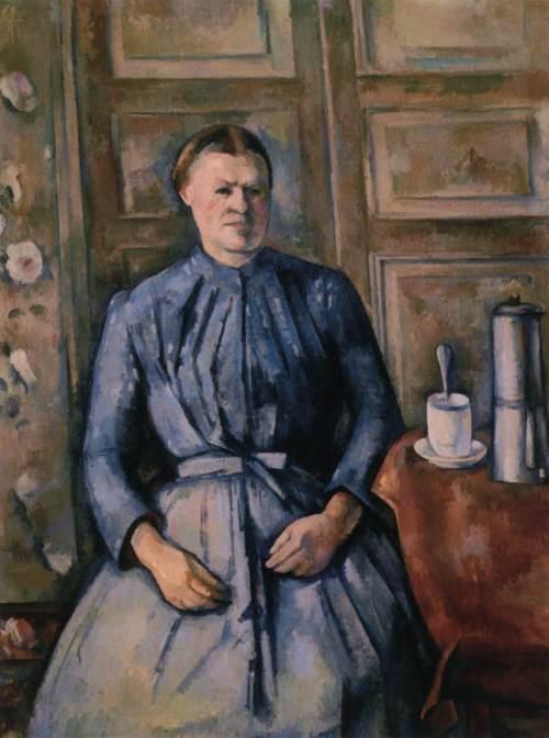 Cezanne 1890 woman w coffeepot