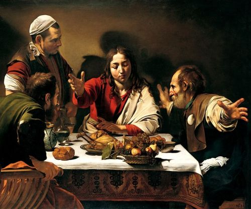 Caravaggio_-_Cena_in_Emmaus 1601 National galleryLondon