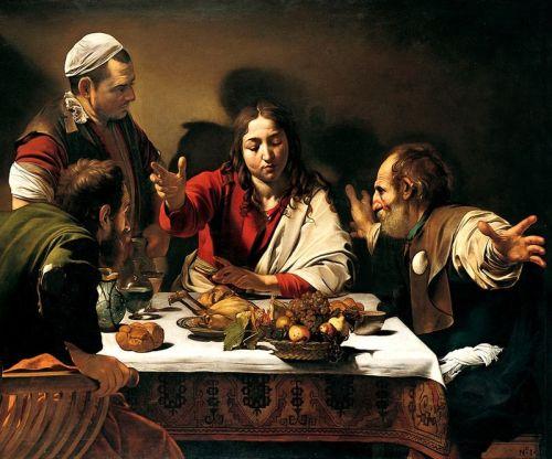 Caravaggio_-_Cena_in_Emmaus 1601 National galleryLondon