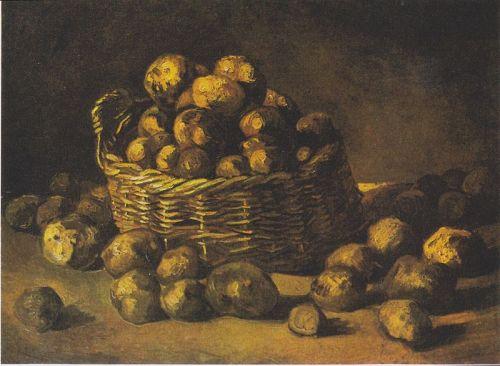 800px-Van_Gogh_-_Stillleben_mit_Karoffelkorb Baskets of Potatoes, 1885, Van Gogh Museum, Amsterdam