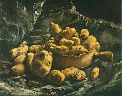 Still Life with an Earthen Bowl and Potatoes c.1886 Rotterdam Musuem Boi.