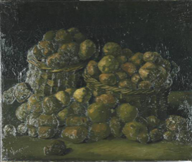 Vincent van Gogh, Baskets of potatoes, March-April 1885.
