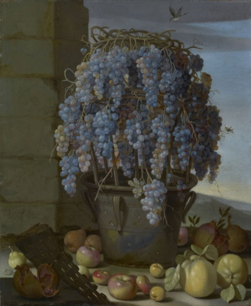 forte-luca-still-life-with-grapes-1630s-copper-getty